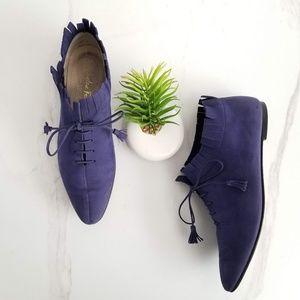 Salvatore Ferragamo Ankle Booties Blue Leather